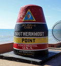 Southernmost Point in Key West Royalty Free Stock Photo