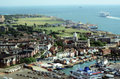 Southsea portsmouth aerial view of england Royalty Free Stock Photos