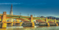 Southwark Bridge panorama Stock Images