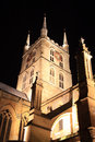 Southwark cathedral at night which stands the south end of london bridge london england uk it is believed to have been built Stock Image
