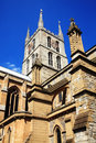 Southwark cathedral stands at the south end of london bridge london england uk it is believed to have been built around ad largely Stock Photo