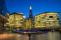 Southwark skyline across the river thames of london in Stock Photography