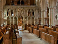 Southwell abbey choir stalls Royalty Free Stock Photography