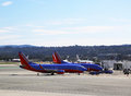 Southwest aircrafts ready to take off at san francisco airport ca march on march airlines is a major u s Stock Photo
