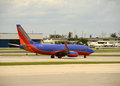 Southwest Airlines Boeing 737 jet Royalty Free Stock Images