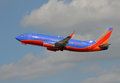 Southwest Airlines Boeing 737 taking off Royalty Free Stock Photos