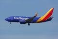 Southwest Airlines Boeing 737-700 airplane Los Angeles Internati Royalty Free Stock Photo