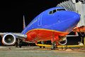 A Southwest Airlines at the gate Royalty Free Stock Photo