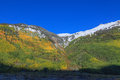 Southwest colorado rockies in fall a colorful scenic landscape of a rocky mountains Royalty Free Stock Images
