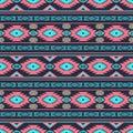 Southwestern ethnic navajo pattern Royalty Free Stock Photo