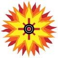 Southwestern Sun Design Royalty Free Stock Photo