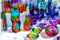Souvenir colorful croatian from glass Stock Image