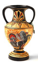 Souvenir cypriot hellenistic amphora a reproduction of a nikosthenic black figure from the hellenic period the original was found Royalty Free Stock Photography