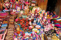 Souvenir dolls in quechua style Royalty Free Stock Photo