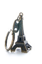 Souvenir eiffel tower white background Royalty Free Stock Images