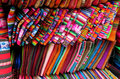 Souvenir indian colorful traditional textil Royalty Free Stock Photo