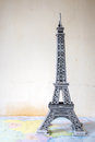 souvenir from paper Eiffel Tower Paris Royalty Free Stock Photo