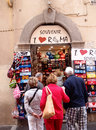 Souvenir shop in rome italy the little is located in central rome and is often busy with tourists photograph taken on may Stock Images