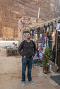 Souvenir shop in the ruins of petra is an editorial image on a sunny day Royalty Free Stock Photos