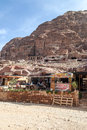 Souvenir shop in the ruins of petra is an editorial image on a sunny day Royalty Free Stock Photo