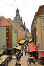 Souvenir shop street in Old town Dresden,Germany Stock Photography