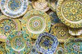 Souvenir shop with typical ceramic products in Erice, Sicily, It Royalty Free Stock Photo