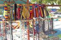 Souvenir stand on the beach on Ambergris Key Royalty Free Stock Photo