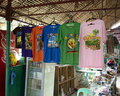 Souvenirs in bohol philippines loboc town philippine islands may t shirt with themed graphics a souvenir shop at the tarsier Stock Photography