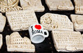 Souvenirs from rome with famous phrases italy Stock Images