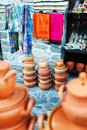 Souvenirs sold on a local market in the old town of Sheki, Azerbaijan.