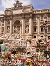 Souvenirs at the Trevi Fountain in Rome Stock Photography
