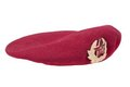 Soviet army airborne forces red beret isolated on white background Royalty Free Stock Photo