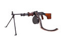 Soviet army machinegun rpd isolated Royalty Free Stock Image