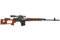Soviet army sniper rifle svd by dragunov with optic sight Stock Images