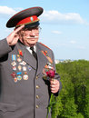 Soviet Army veteran of World War II Royalty Free Stock Images