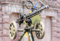 Soviet army world war time machine gun maked over antiaircraft defence Royalty Free Stock Photos