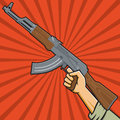 Soviet Assault Rifle Stock Image