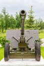 Soviet divisional gun zis mm and anti tank Royalty Free Stock Photos