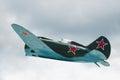 Soviet fighter aircraft I-16 Royalty Free Stock Photo