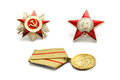 Soviet Fighting Awards Royalty Free Stock Images