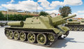 The Soviet fighting tank Stock Images