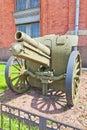 Soviet mm field howitzer m in artillery museum of saint petersburg based on krupp german was used in finland war Stock Image