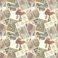 Soviet money seamless texture Royalty Free Stock Photos