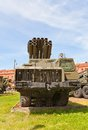 Soviet multiple rocket launcher system a smerch self propelled heavy in artillery museum of saint petersburg used by Royalty Free Stock Image