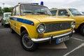 The soviet police car vaz berlin may th berlin brandenburg oldtimer day Stock Photos