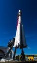 Soviet rocket used to launch a first man into space exposition on vdnh exhibition center in moscow russia Royalty Free Stock Image