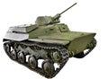 Soviet small amphibious tank T-40 isolated Royalty Free Stock Photo
