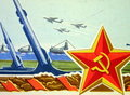 Soviet star and army Stock Images