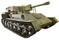 Soviet tank Self-propelled artillery SU-76M isolated Royalty Free Stock Photo