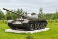Soviet tank t medium on the background of green forest Stock Images
